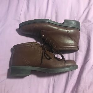 Vintage Danexx leather ankle boots/booties
